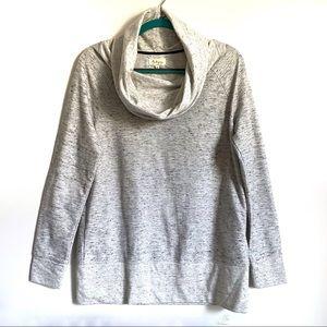 Lou & Gray Cowl High Neck Marled Sweatshirt